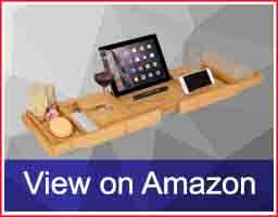 HOMFA-Bamboo-Bathtub-Tray-Bath-Table-Adjustable-Caddy-Tray